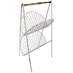 Iron and Brass Catch All Shelf Magazine Rack