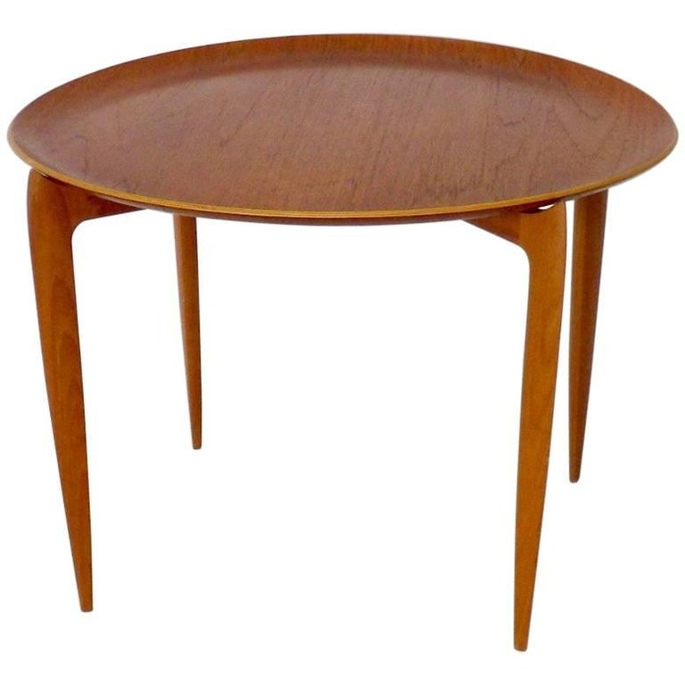 Low Fold Away Coffee Table: Danish Modern Coffee Table / Tray Table By Fritz Hansen At