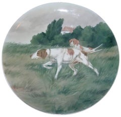 "Bing & Grondahl Unique Wall Plate with Hunting Dogs ""Pointers"""