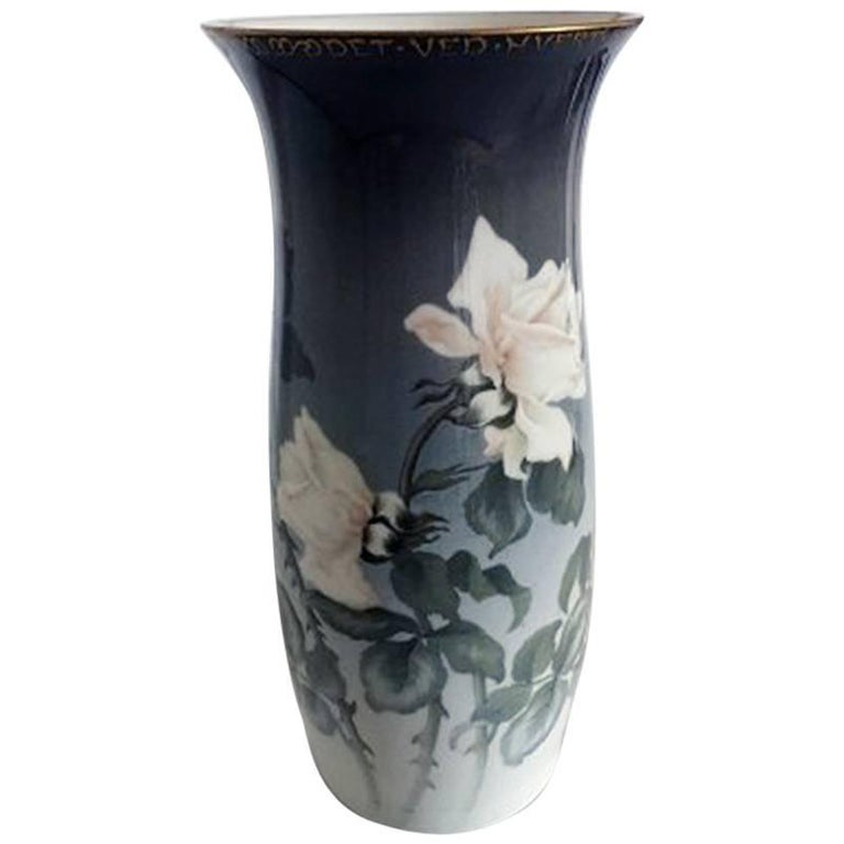 Bing And Grondahl Unique Vase By Amalie J Schou For Sale At 1stdibs