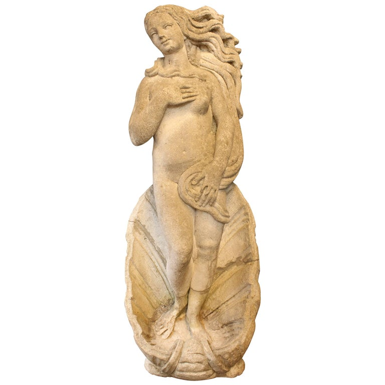 'Birth of Venus' Statue in Cement Stone