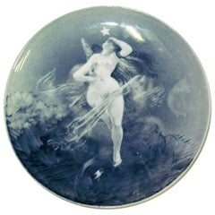 Bing & Grondahl Unique Carl Locher Plate with Motif of the Birth of Venus