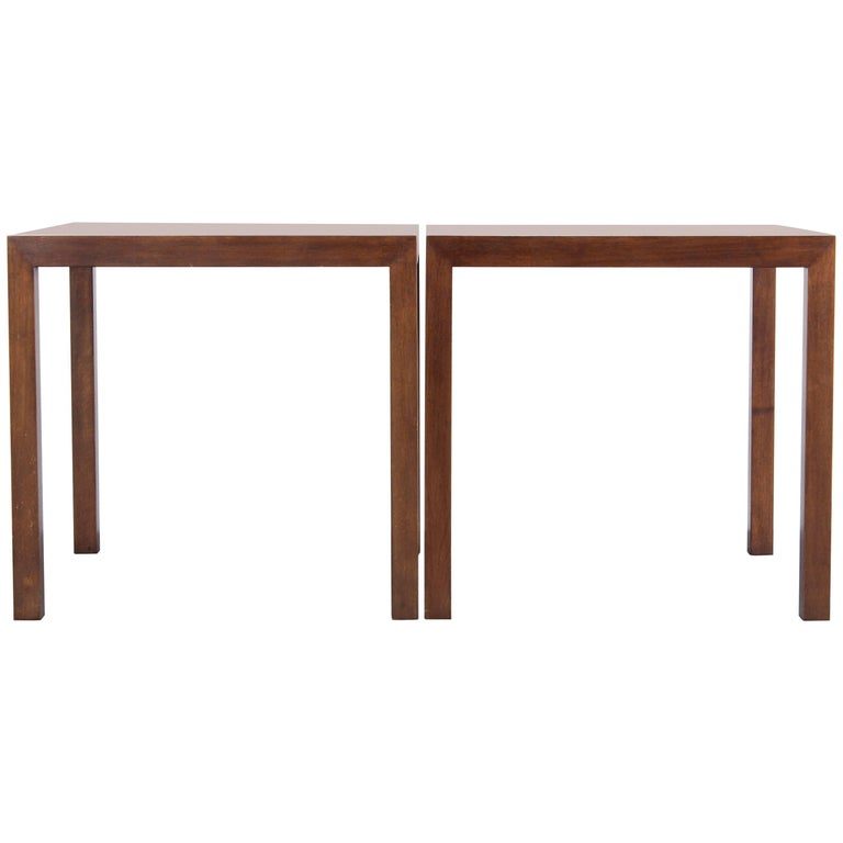 Pair of Parsons Style End Tables by Edward Wormley for Dunbar, 1960