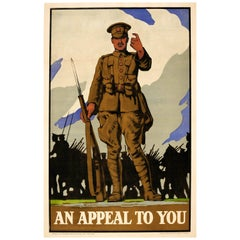Original World War One Army Recruitment Poster - An Appeal To You - WWI Soldier