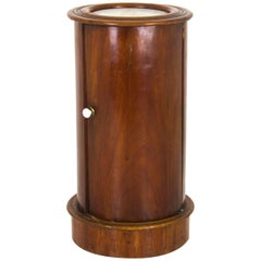 Antique Nightstand, Bedside Table, Cylindrical Lamptable, Scotland 1880, B928