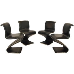 "Set of Four ""Z"" Chairs by Gastone Rinaldi for Rima"