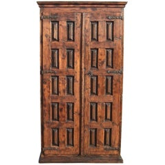 Early 18th Century Mixed-Wood Spanish Pantry Cabinet