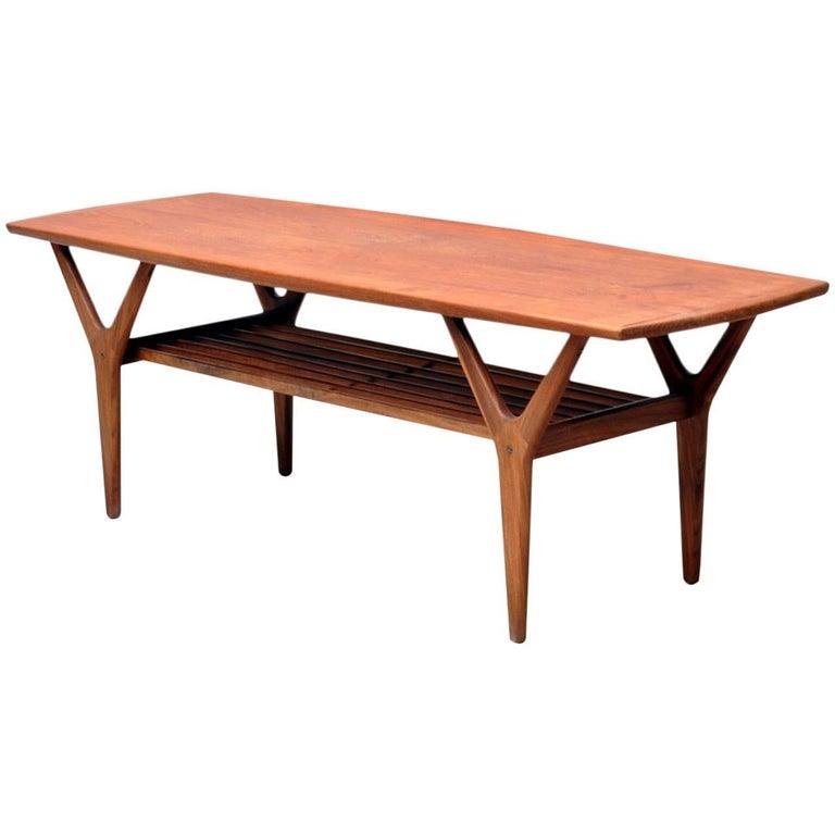 1960s Henning Kjaernulf Coffee Table in Teak