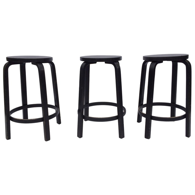Original Alvar Aalto Stools by Artek, Any Color or Seats Covered in Fabric