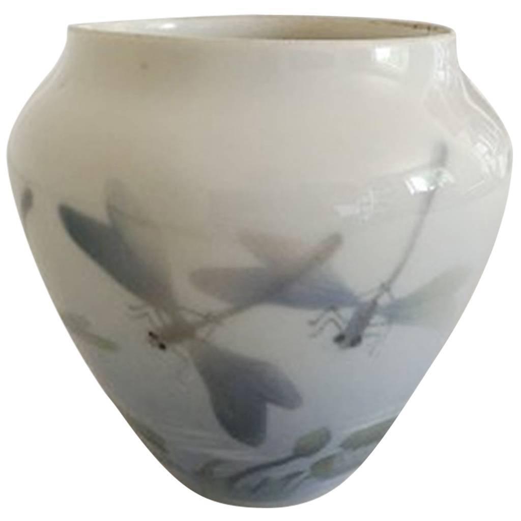 Bing & Grondahl Art Nouveau Vase with Five Dragonflies #3765/5 #6