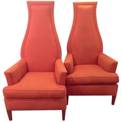 1960s Hollywood Regency Upholstered Chairs