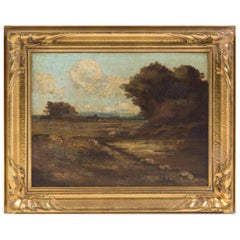 Barbizon School, 19th Century Forest Landscapes Oil on Canvas