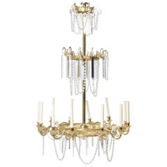 Neoclassical Style Gilt Bronze Twelve-Light Chandelier