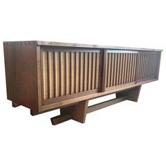 Signed George Nakashima Walnut Floor Cabinet
