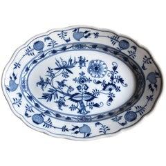 Late 19th Century Meissen Porcelain Large Blue Onion Platter