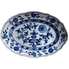 Late 19th Century Meissen Porcelain Blue Onion Platter