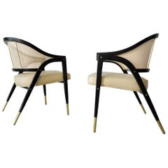 Pair of Edward Wormley for Dunbar 5480 Sculpted Lounge Chairs, circa 1955