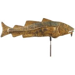 Molded and Gilt Copper Codfish Weathervane