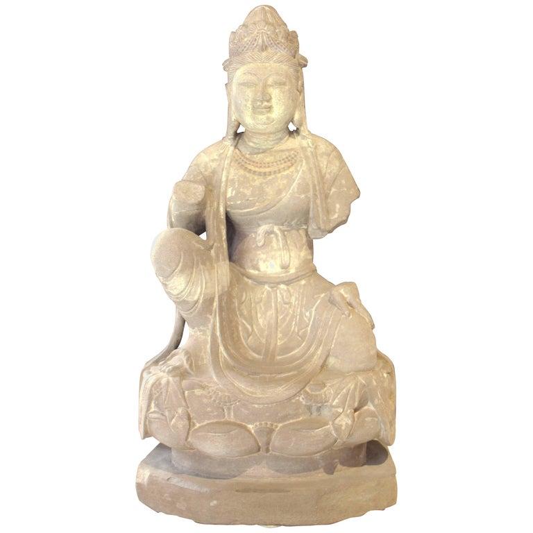 Sandstone Bodhisattva China Tang Dynasty, circa AD 618-907