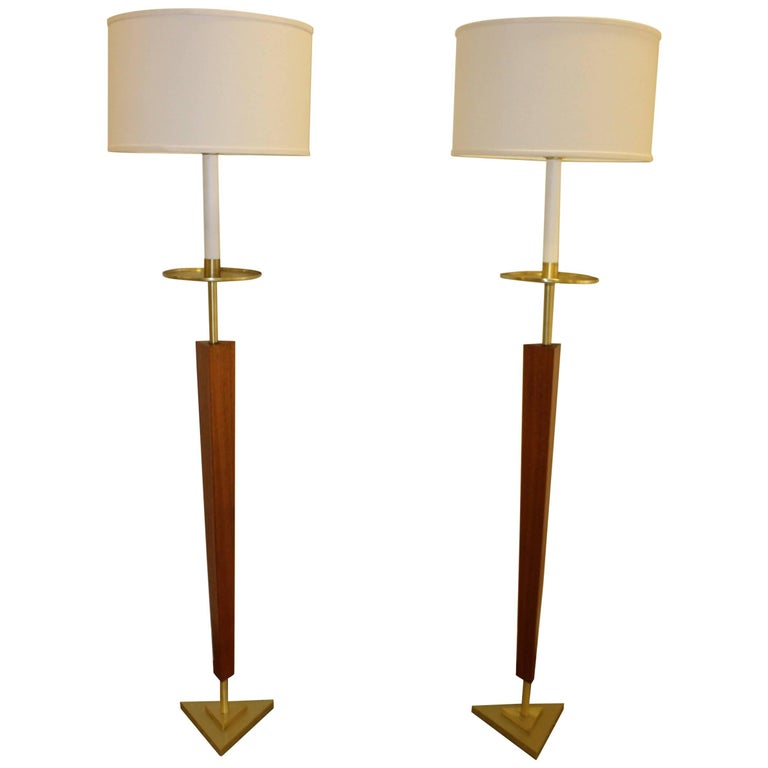 1960s French Modernist Floor Lamps