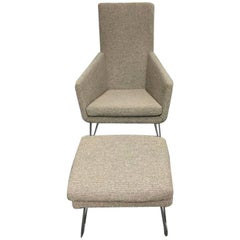 """Gerard Van Den Berg """"Don"""" Chair and Footstool for Label"""
