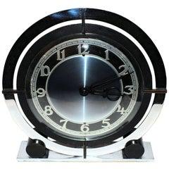 English Art Deco Modernist Clock by Temco