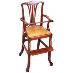 Antique Georgian Mahogany Childs High Chair