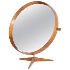 Uno & Osten Kristiansson Table Mirror Produced by Luxus in Sweden