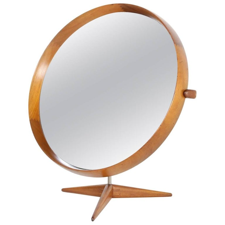 Uno & Osten Kristiansson Table Mirror Produced by Luxus in Sweden For Sale