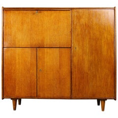 Rare Oak Series Secretaire by Cees Braakman for UMS Pastoe, 1948 Brown Beige