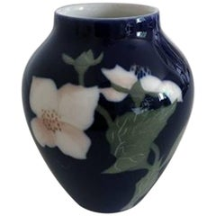 Bing & Grondahl Art Nouveau Vase with Butterfly #1676/12