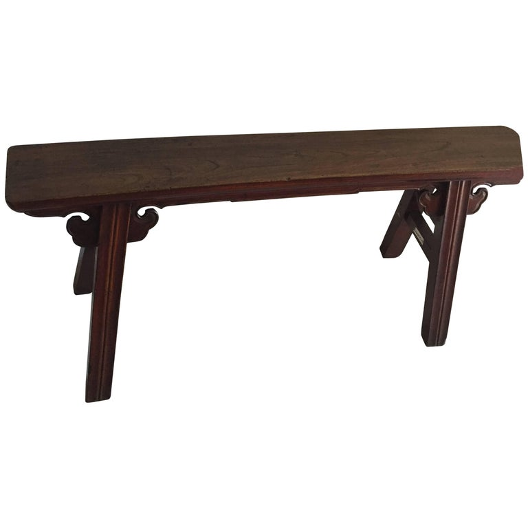 Turn Of The Century Qing Dynasty Sporting Bench For Sale