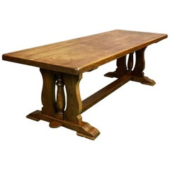 20th Century Oak Monastere Table