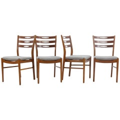 1960s Set of Four Danish Teak Chairs
