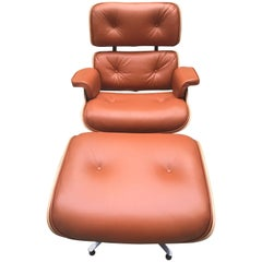 Eames Lounge Chair et Ottoman - Tan / Rosewood, Herman Miller Edition