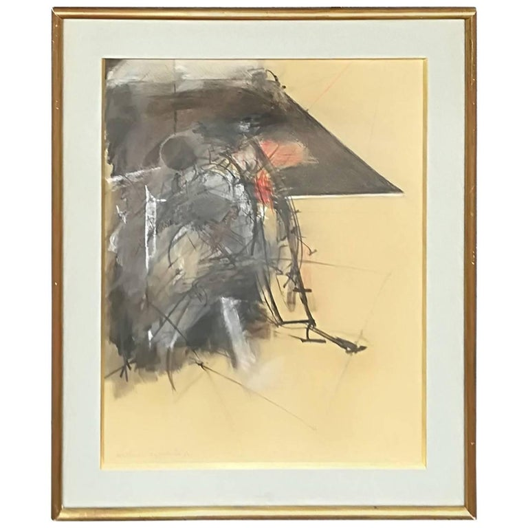 Albert Bitran Mixed Media on Paper, 1982 For Sale