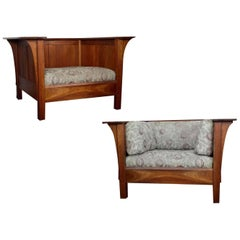 Pair of Cherry Stickly Prarie Armchairs