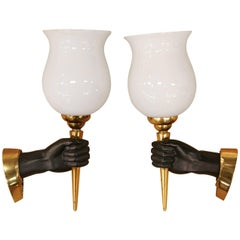 Pair of Maison Jansen Attributed to Sconces