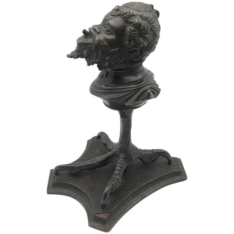 Rare 19th Century Continental Bronze Tobacco Cigar Lighter