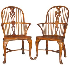Fine Pair of Thames Valley Windsor Armchairs, Early 19th Century