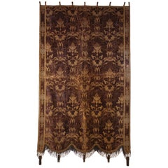 Early 19th Century Velvet Tapestry with Metallic Embroidered Tread