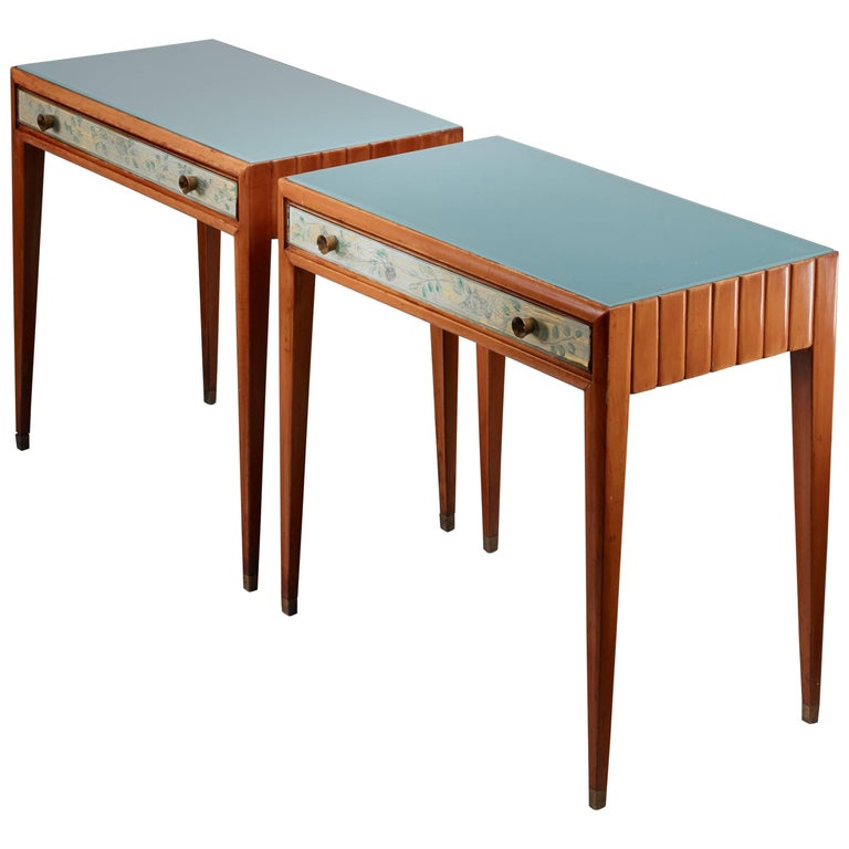 Osvaldo Borsani Unique Pair of End Tables, Italy, 1930s For Sale