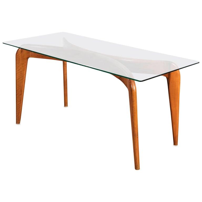 Giò Ponti Cherrywood Coffee Table for Fontana Arte, 1936