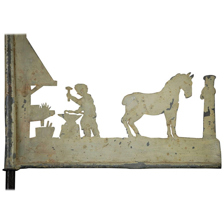 Early 20th Century Blacksmith Weathervane