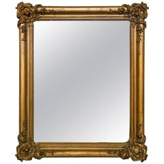 19th Century French Giltwood Crystal Mirror