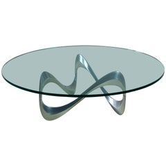 Large Knut Hesterberg Aluminum and Glass Snake Table