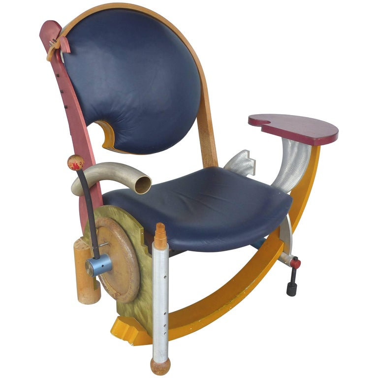 """Sculptural Postmodern """"Howard's Chair"""" by Jay Stanger, Dated 1989 For Sale"""
