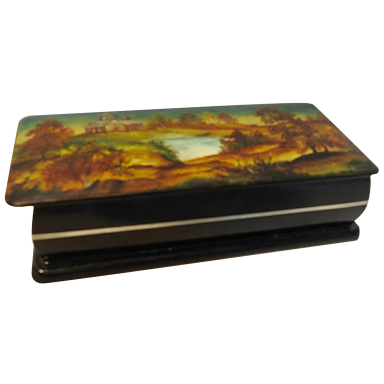 Hand-Painted Russian Lacquer Box