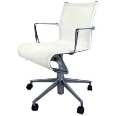 Rolling Frame Swivel Chair with Armrests by Alberto Meda for Alias, Italy