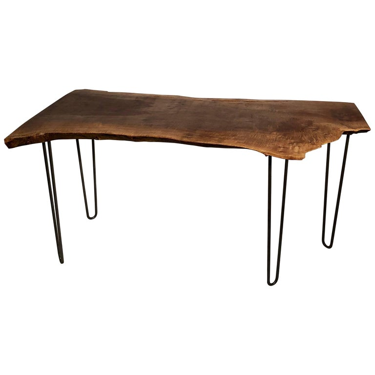 Claro Walnut Slab Console or Desk